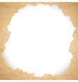 vintage torn paper hole vector image