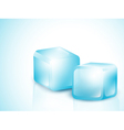 Two Blue Ice Cubes vector image