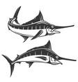 swordfish icons vector image
