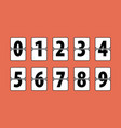 flip clock numbers vector image