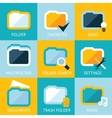 Folder Icons Set Favorites Settings Music Ideas vector image vector image
