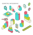 isometric business finance analytics chart graphic vector image vector image