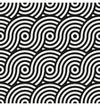 Seamless pattern Circular geometric ornament vector image