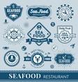 Set of seafood restaurant logo banner design vector image