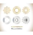 Golden silver mandala vector image