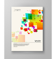 Abstract spectrum colorful bottom mosaic brochure vector image