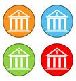 Bank button set vector image