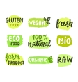 Bio natural food concept vector image