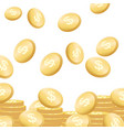 coins falling flying golden money concept vector image