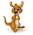 cute baby kangaroo cartoon vector image