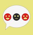 emoticon set icons emoji symbols isolated on vector image