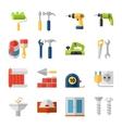 Home repair flat icons set vector image