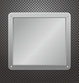 metallic plaque vector image