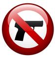 no gun mark vector image