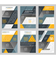 Set of business flyer template brochure or vector image