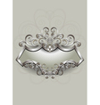 Silver pattern with heraldry and spirals on a silv vector image