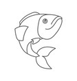 sketch silhouette of largemouth bass fish vector image