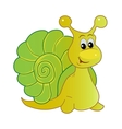 Smiling snail cartoon vector image