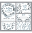 wedding collection Templates for vector image