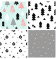 Christmas Patterns Collection vector image vector image
