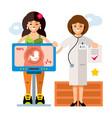 pregnancy diagnostics sonography flat vector image