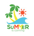 Summertime holiday travel adventure palm vector image