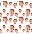 seamless background with happy girl vector image vector image
