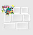 template photo frames vector image