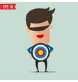 Business man holding target - - EPS10 vector image vector image