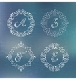 round calligraphic frame vector image vector image