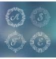 round calligraphic frame vector image