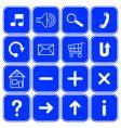 website symbols vector image vector image
