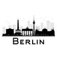 Berlin silhouette vector image vector image