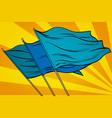 blue flag pop art background vector image