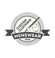 custom clothing menswear vintage isolated logo vector image