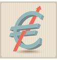 euro raising vector image