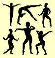 gymnastic sport activity silhouette vector image
