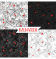 halloween background seamless pattern with spider vector image