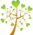 heart tree illustration vector image