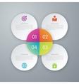 Infographic design white circles vector image