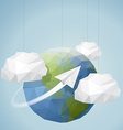 Origami Style World background vector image