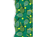pattern with tennis rackets and balls vector image