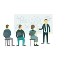 People sitting and listen to the teacher vector image