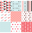 Seamless pattern Valentines day vector image