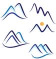 Set of stylized mountains logo vector image