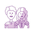 silhouette cute brazilian couple with hairstyle vector image