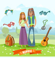 subculture hippie composition vector image