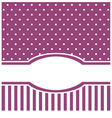 Violet card or invitation with white polka dots vector image vector image
