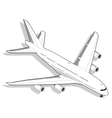 Isometric White Airplane vector image