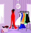 fitting room vector image